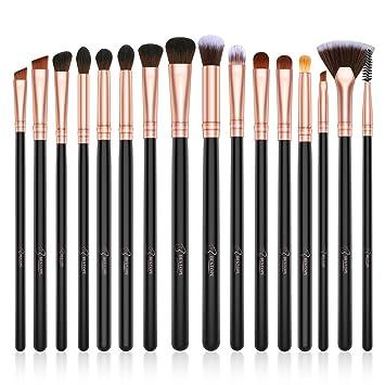 Brochas para Maquillaje de Ojos BESTOPE 16 piezas Pinceles de maquillaje profesional Sombra de ojos Eyeliner Corrector Base de cejas, Juego de ...