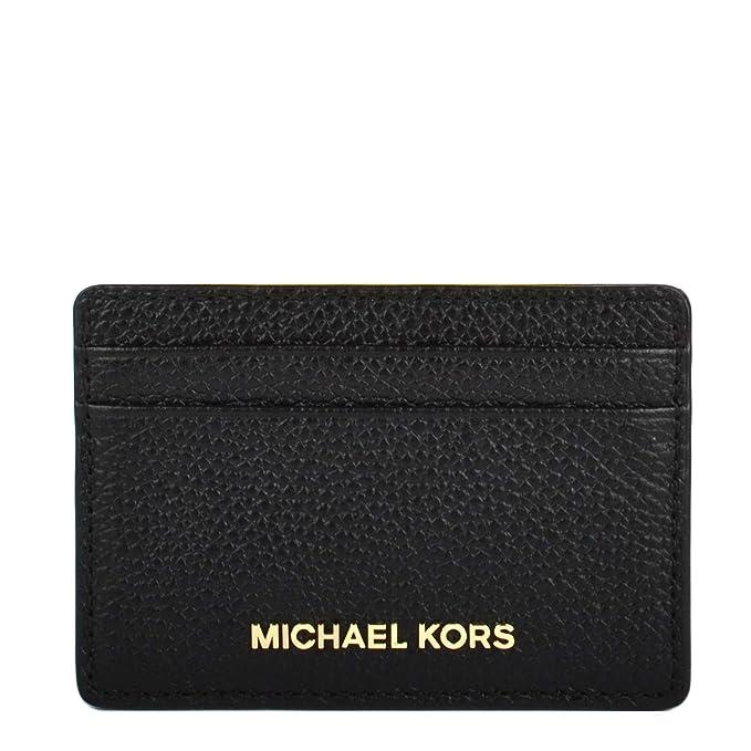 MICHAEL by Michael Kors Money Pieces Cartera de Cuero Negro Mujer uni Negro: Amazon.es: Ropa y accesorios