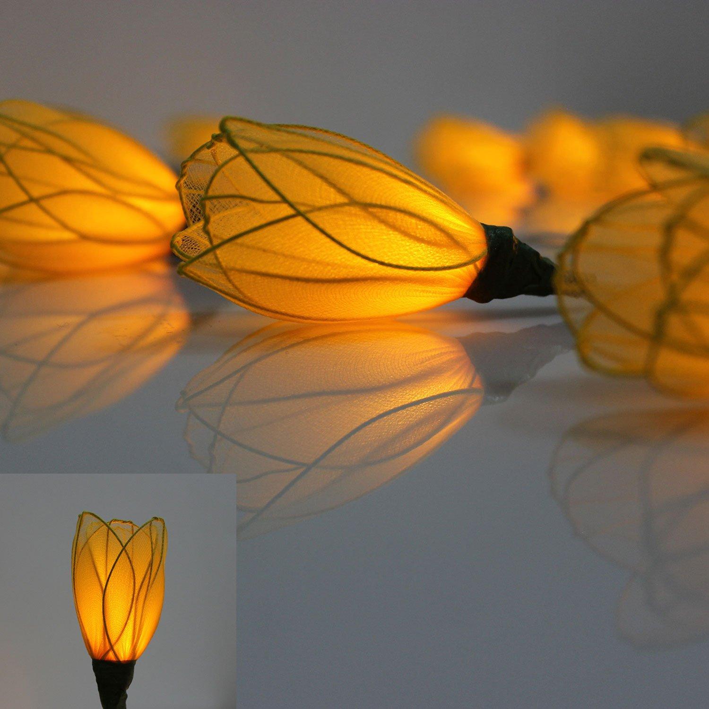 Gelb Tulpen Blumen LED Lichterkette Batteriebetrieben Von flowerglow ...