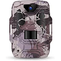 TMEZON Cámara de Caza Nocturna 12MP 1080P con Diseño Impermeable IP66 Cámara de Fototrampeo con Detección de Acción LED…