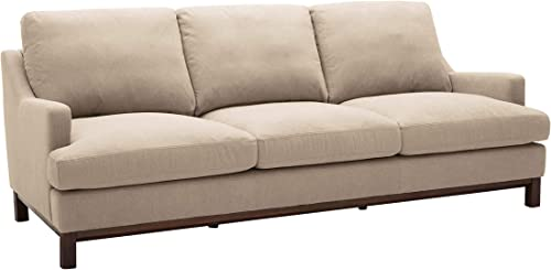 Amazon Brand Stone Beam Genesse Sectional Sofa Couch, 91 W, Fawn