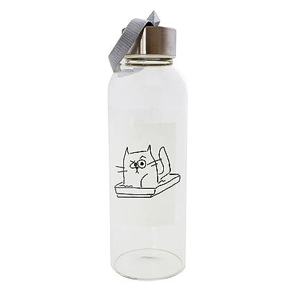 Gato en la basura caja 420 ml botella de cristal