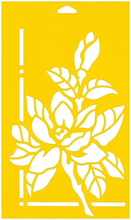 30cm x 17.5cm Stencil Plantilla Plástico Reutilizable para Decoración Pasteles Paredes Tela Muebles Manualidades Arte