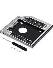 Neuftech Soporte Adaptador óptica bahías de Disco Duro Caddy SATA 2nd 2.5'' HDD 9.5mm para HP/ASUS/Acer/DELL/Lenovo/Laptops etc