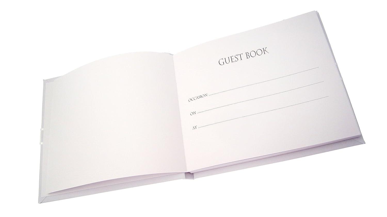 Libro degli ospiti per 50/° compleanno scarpe nere motivo White Cotton Cards