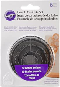 Wilton 6-Piece Nesting Fondant Double Sided Cut Out Cutters, Round