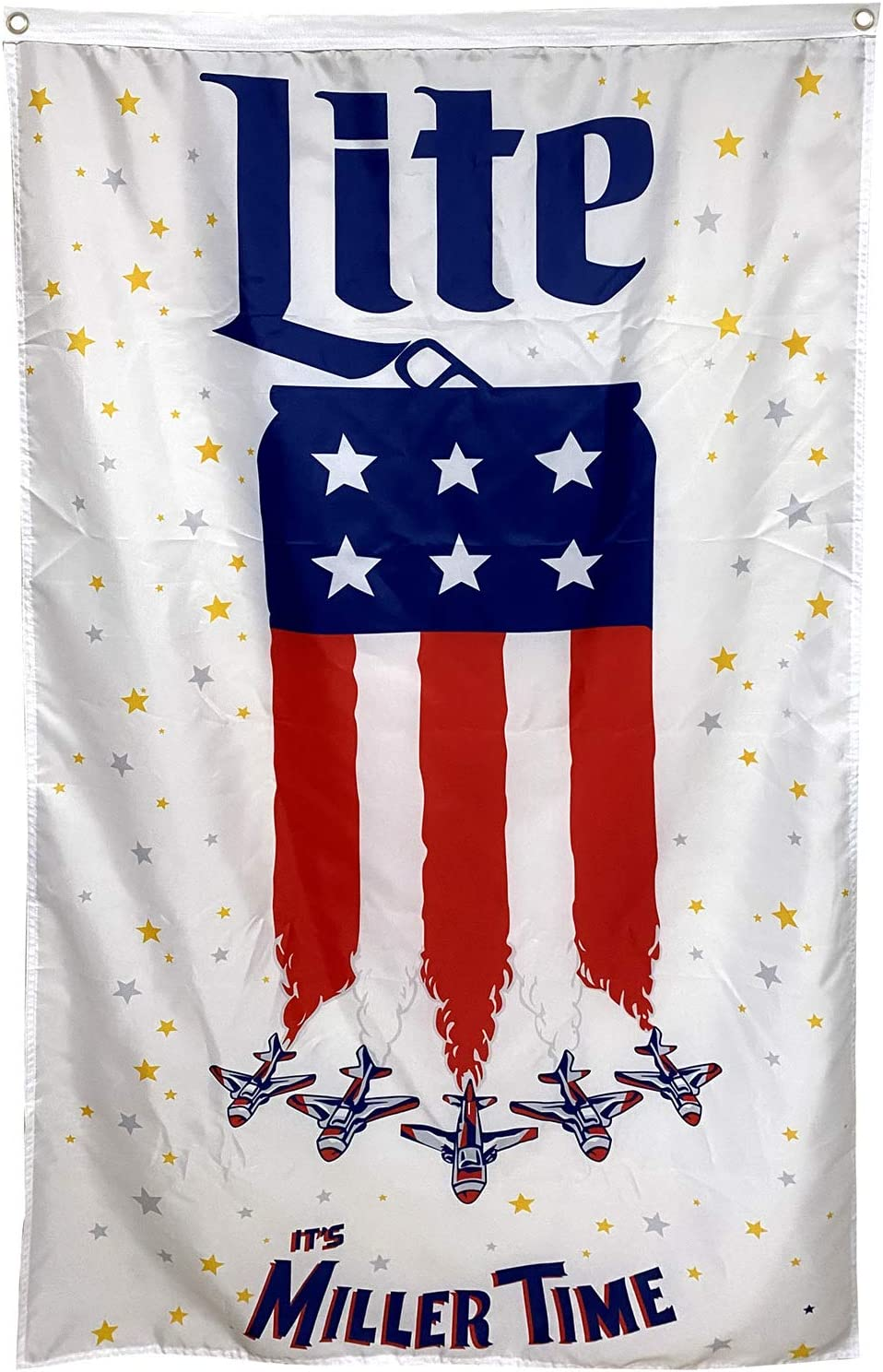 Dimike Miller Lite Flag It's Time Milwaukee Brewing American 3x5 ft Banner