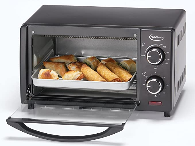 Amazon.com: Betty Crocker BC-1664CB Toaster Oven, 0.9 L, Black: Kitchen & Dining