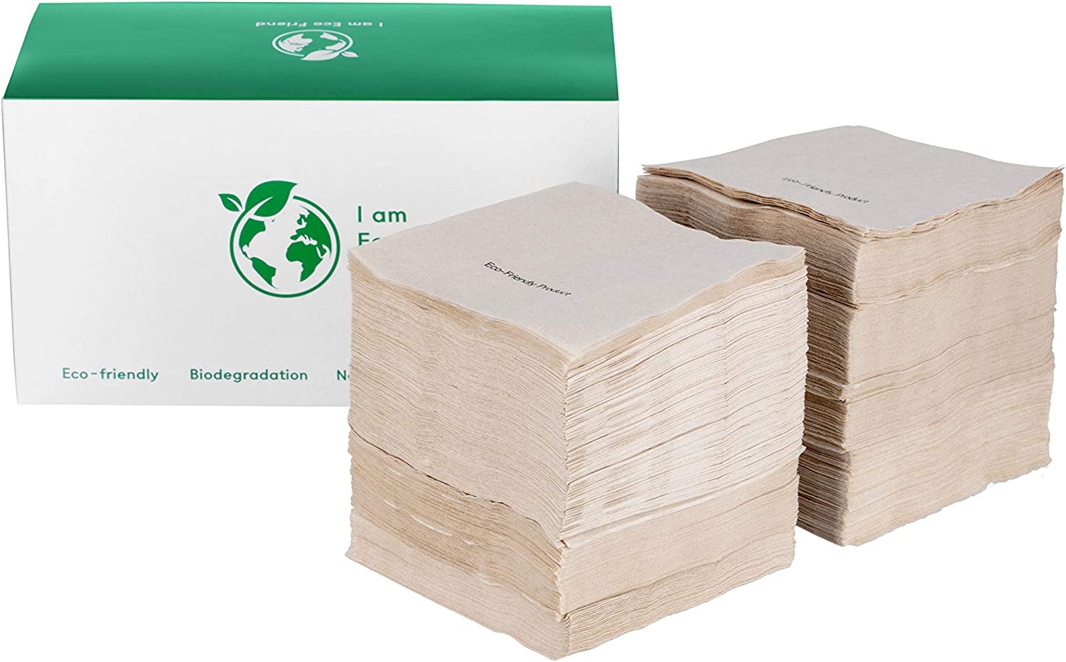 LemonPalm Eco Friendly Recycled Biodegradable Paper 500pcs 4.5x4.5in Brown Beverage Disposable Everyday Napkins