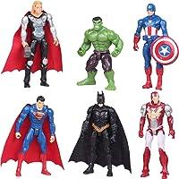 Cake Decoration - YUESEN 6Pcs Figuras de héroe Cake Topper Juguete de Figura Mini Juego de Figuras Niños Mini Juguetes…