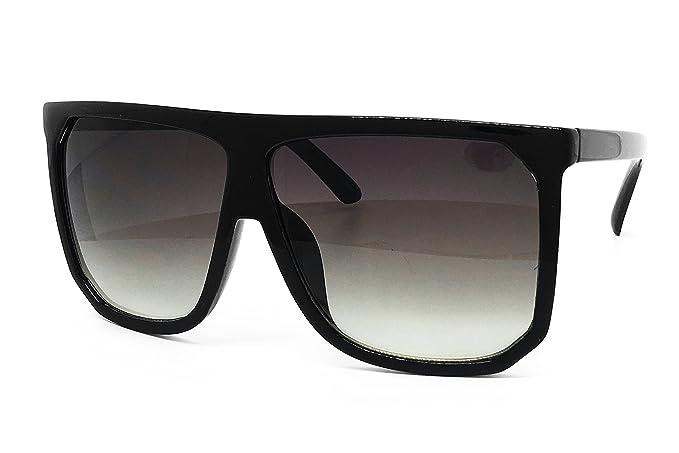 daabc8e415a1 O2 Eyewear 7266 Premium Oversize XXL Women Men Tint Flat Top Fashion  Sunglasses (Oversized