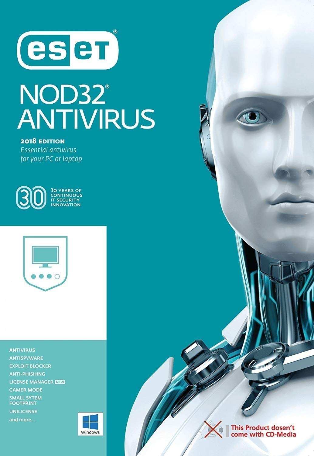 ESET NOD32 Antivirus 2019 - 3 PCs / 1 year (Product Key Card) by ESET