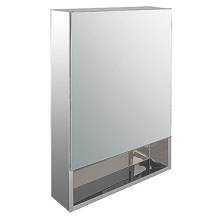 Klaxon Stainless Steel Mirror Cabinet (White): Amazon.in: Home ...