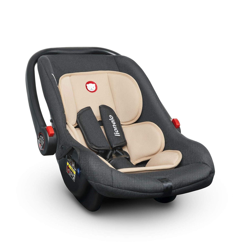ECE R44//04 0 bis 13 kg T/ÜV Autokindersitz Gruppe 0+ Lionelo Noa Plus Kindersitz Beige ab Geburt