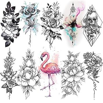 Amazon Com Vantaty 10 Hojas De Tatuajes Temporales En 3d De
