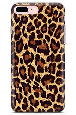 sports shoes 40822 69b16 iPhone 7 Plus Case, iPhone 8 Plus Case, Gold Leopard Print Phone Case by  Casechimp® | Clear Ultra Thin Lightweight Gel Silicon TPU Protective Cover  | ...