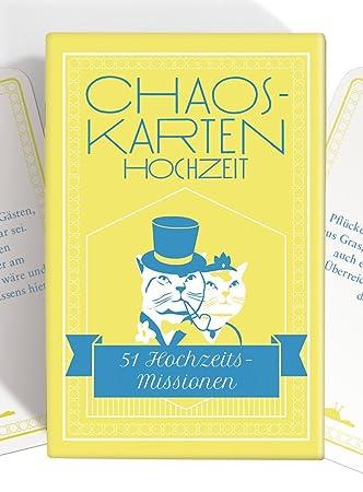 Chaoskarten Hochzeitsspiel Das Original 51 Aufgaben Fur Eine