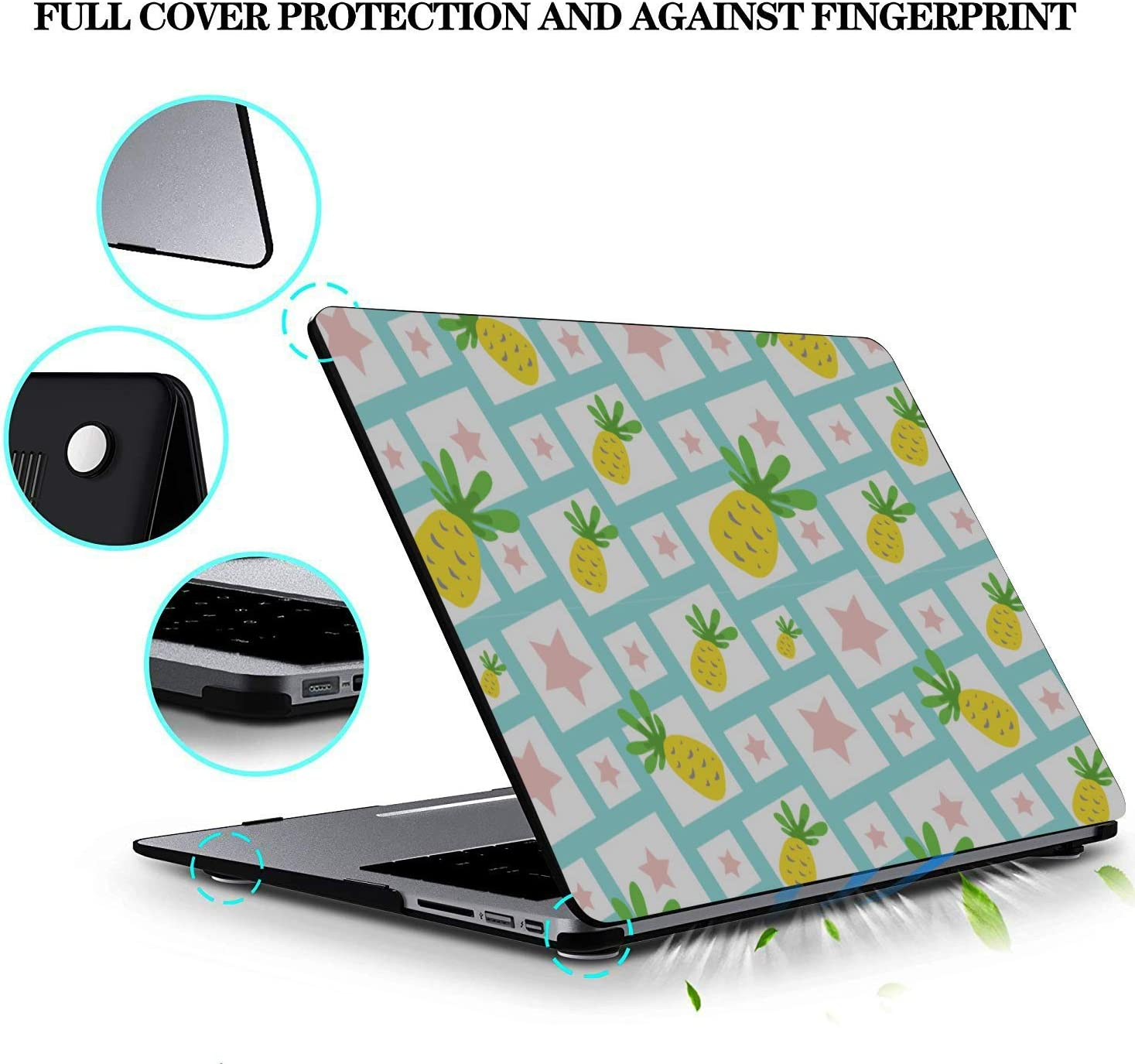 Case MacBook Pro Summer Fruit Cherry Blueberry Drink Plastic Hard Shell Compatible Mac Air 11 Pro 13 15 MacBook 13 Inch Case Protection for MacBook 2016-2019 Version