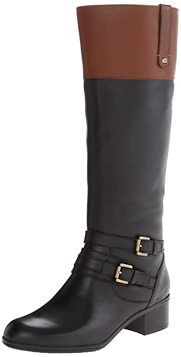 Amazon.com | Bandolino Women's Cavendish Leather Riding Boot ...