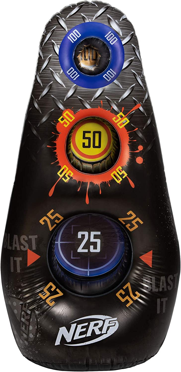 Water Filled Base NERF Inflatable Target Great for Outdoor /& Indoor Play 3 Score Zones 4/' Tall Practice Device