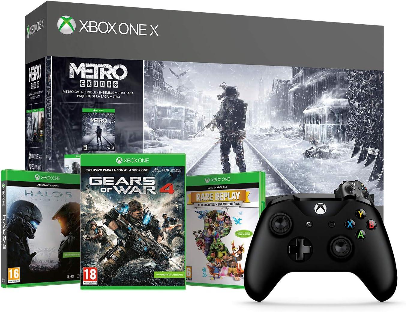 Xbox One X - Consola 1 TB + Metro Exodus Collection + Microsoft ...