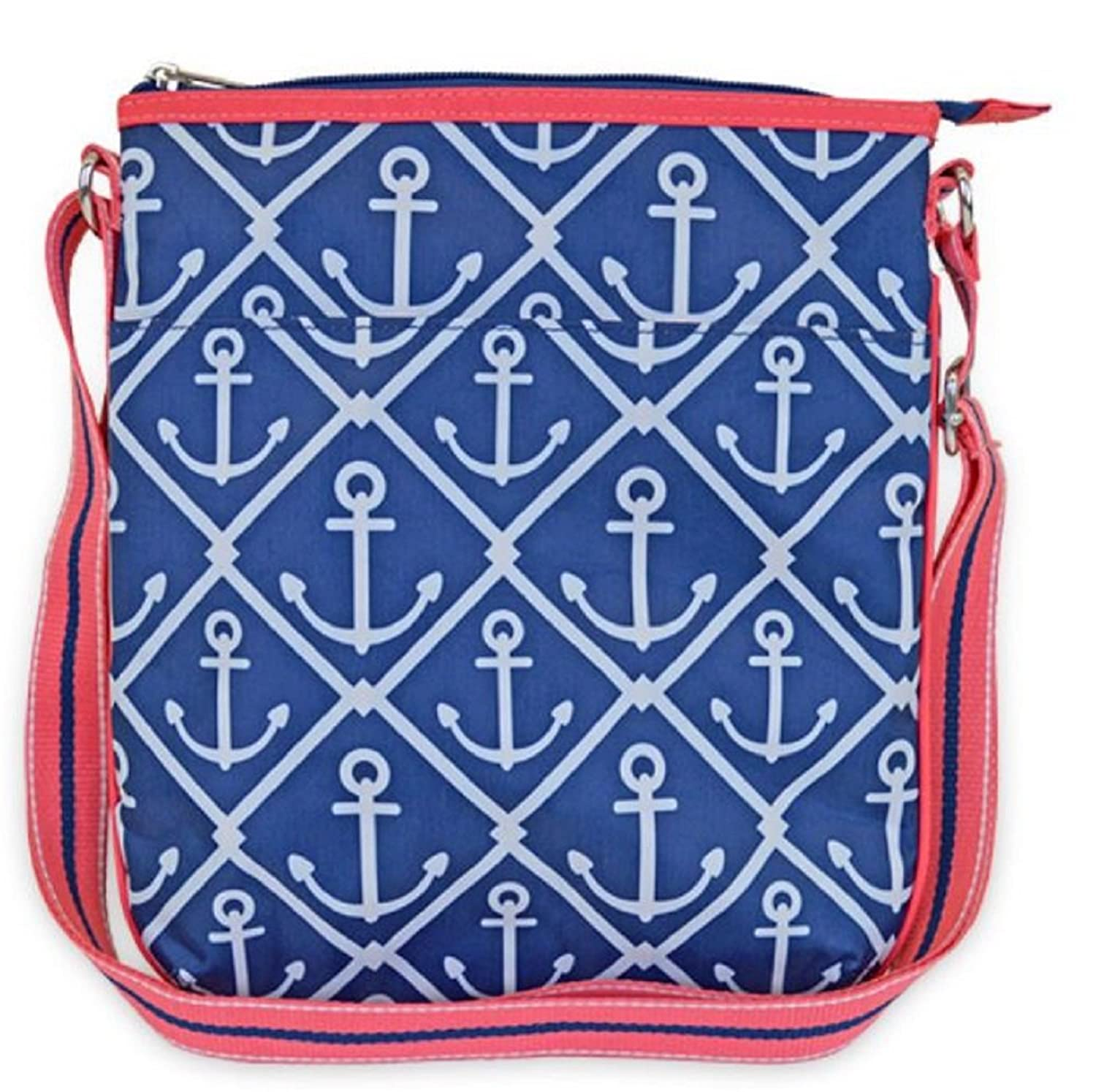 All for Color Classic Anchor Print Shoulder Sling Bag