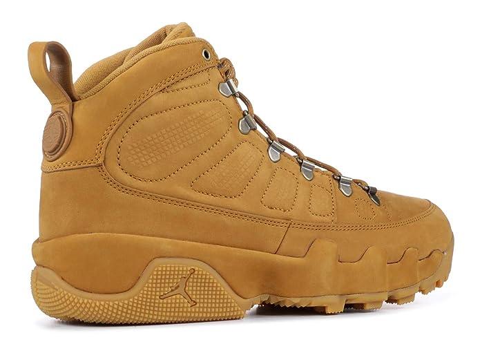 400a1cb303e Amazon.com | Nike Men's Air Jordan 9 Retro Boot NRG Wheat/Brown AR4491-700  | Basketball