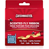 Catchmaster Sticky Fly Trap Ribbon - Indoor/Outdoor Fly Catcher Insect Killer- Pack of 20 Rolls
