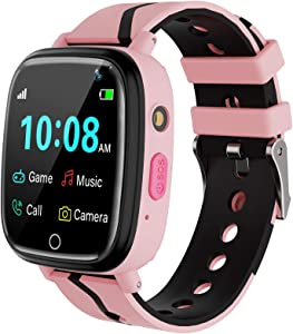 Kids Smart Watch for Boys Girls – Kids Smartwatch with Call 7 Games Music Player Camera SOS Alarm Clock Calculator 12/24 hr Touch Screen Children Smart Watch Birthday Gifts for Kids Age 4-12