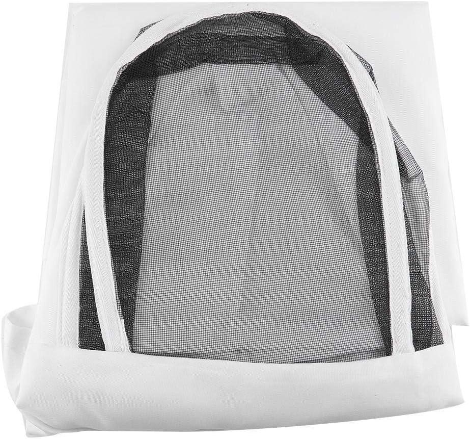 Traje de Apicultura,Algod/ón Traje de Apicultura Protectora de Traje Chaqueta Ventilado para Apicultor Velo Apicultura Apicultor Equipo de Protecci/ón con Sombrero Blanco