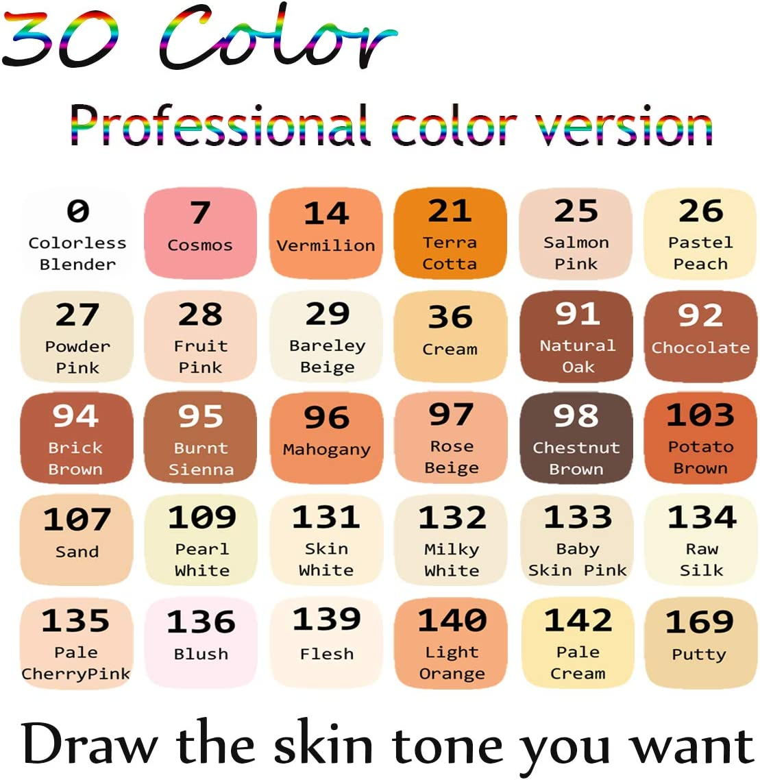 Permanent Artist Markers Pen for Art Creation Design Portrait Illustration Sketching Drawing Coloring ADAXI 30 Colors Blue Tone Art Marker Pen Double-Ended Sketch Markers Alcohol Based Markers