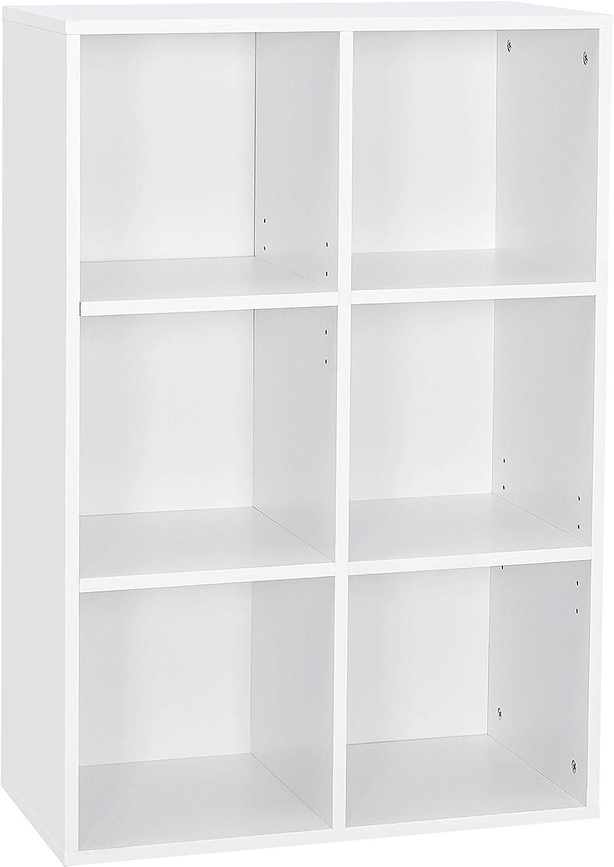 Librería de madera de 3 Compartimentos Estanteria Para Libros Oficina Accesorios