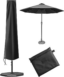 Umbrella Cover,for 7-11ft Patio Umbrella Cover,420D PVC Coating Outdoor Umbrella Cover (74.8 x 11.8 x 19.7inch),Umbrella Covers for Outdoor Umbrellas Waterproof with Zip,Market Umbrella Cover Black