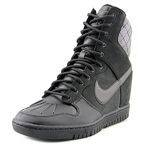 Nike WMNS Dunk Sky Hi Sneakerboot 2.0 Black 684954-002 Hidden Wedge Women s  Shoes ( f40a147c102d
