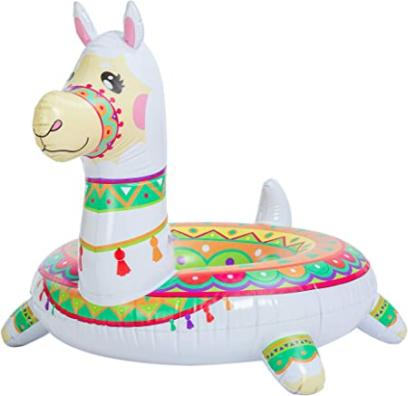 "JOYIN Inflatable Llama Pool Float 43.5"", Pool Tubes, Fun Beach Floaties, Summer Pool Raft Lounger, Swim Party Toys, Swimming Pool Party Decorations for Kids & Adults"