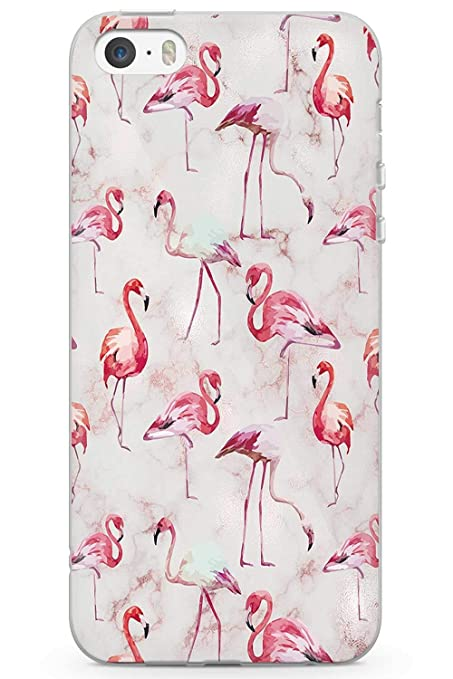 5ec46207d3f528 Case Warehouse iPhone 5 Case, iPhone 5s, iPhone SE Luxury Fashion Flamingo White  Marble
