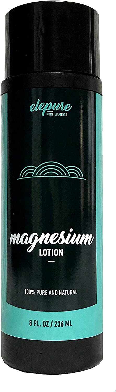 Natural Magnesium Lotion - Highest Potency - Over 1800 MG per Ounce - Elepure 8 oz (Mineral Lotion)