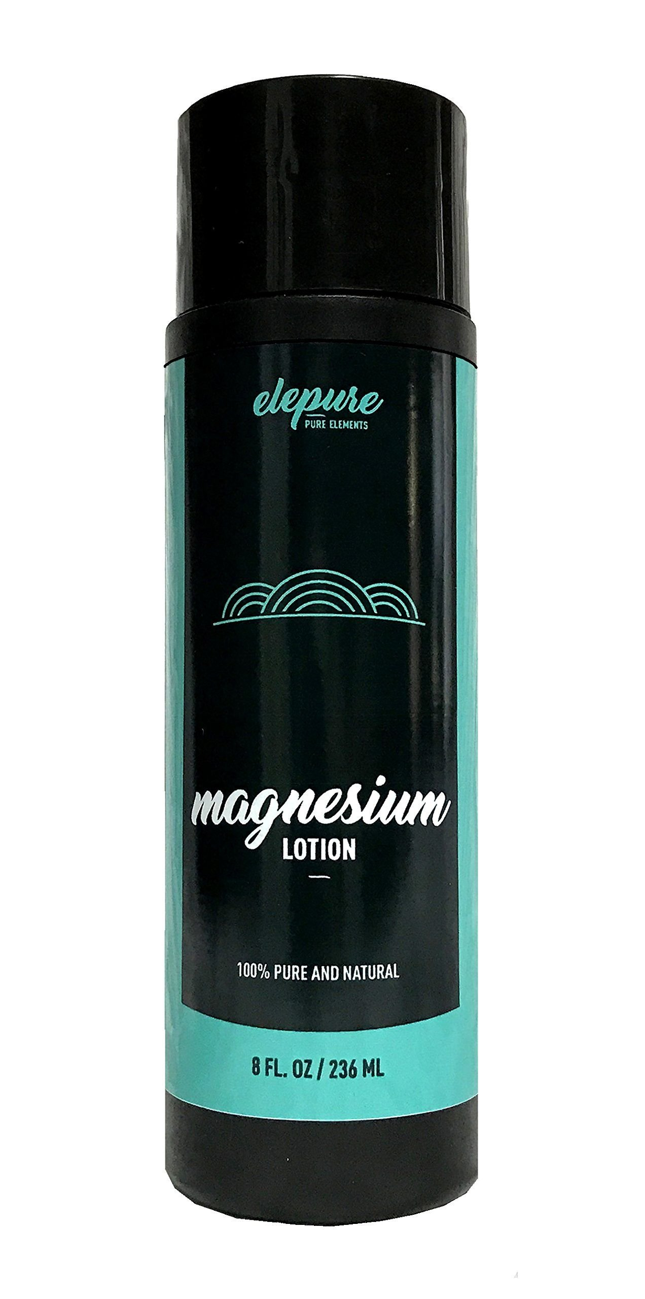 Natural Magnesium Lotion - Highest Potency - Over 1800 MG/oz - 300 mg/tsp - Not Water Based -Elepure 8 oz