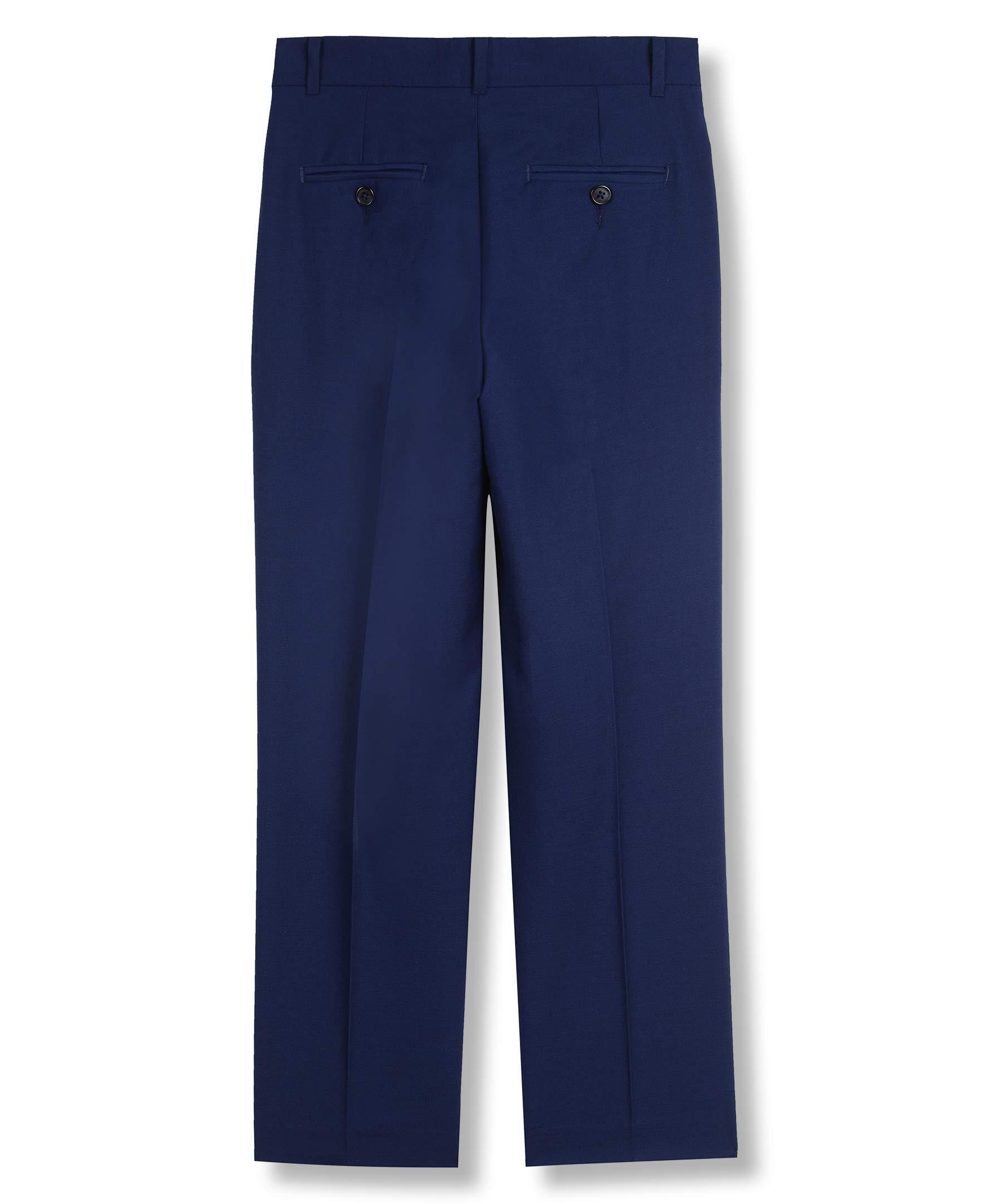 Calvin Klein Big Boys' Flat Front Dress Pant, Infinite Blue, 10 by Calvin Klein (Image #3)