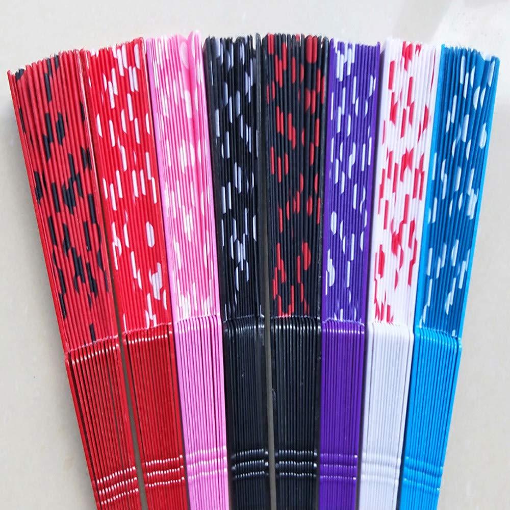 Xshuai/® C /Éventail pliable style r/étro chinois//espagnol d/écoration /à pois Fan rib lenghth: 23cm approx mariage f/ête d/'affaires /à utiliser pendant la s/éance de danse