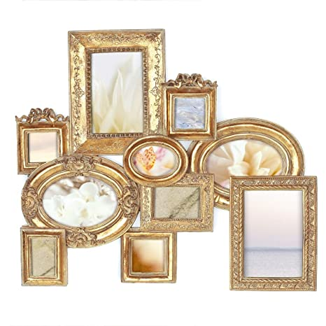 """Portaretratos -Collage"""" Barock"""" color dorado ..."""