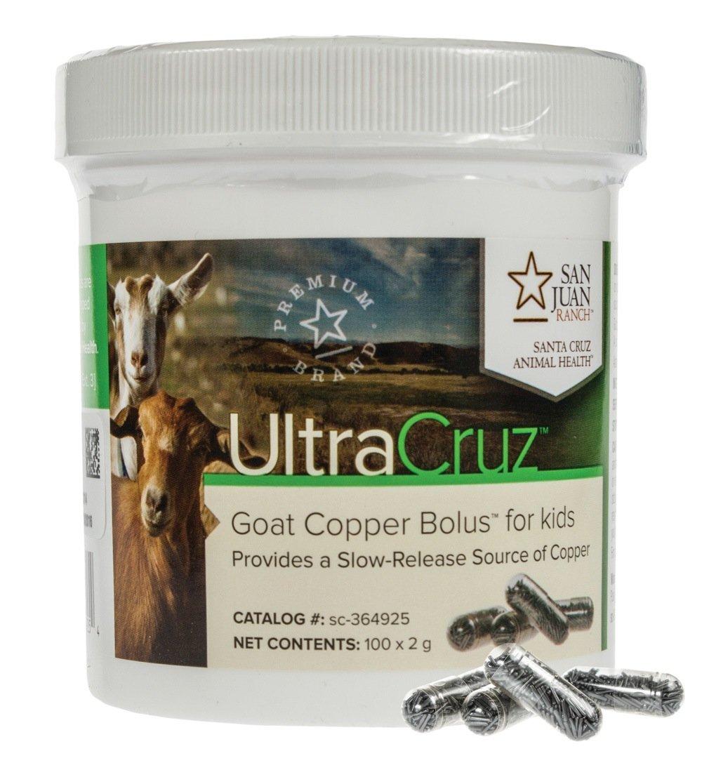UltraCruz - sc-364925 Goat Copper Bolus Supplement for Kid Goats, 100 Count x 2 Grams: Industrial & Scientific