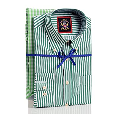 9cdf1425881 Two & Three Pack Shirts at Multi Buy Price,Twin Pack of Striped & Check  Design Single Cuff Button Down Collar & Pocket. 3 Pack Double Cuff Formal  ...