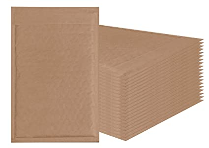 Natural Kraft Bubble Mailers 6x9 Brown Padded Envelopes 6 X 9 By Amiff Pack Of 20 Kraft Paper Cushion Envelopes Exterior Size 6x10 6 X 10 Peel