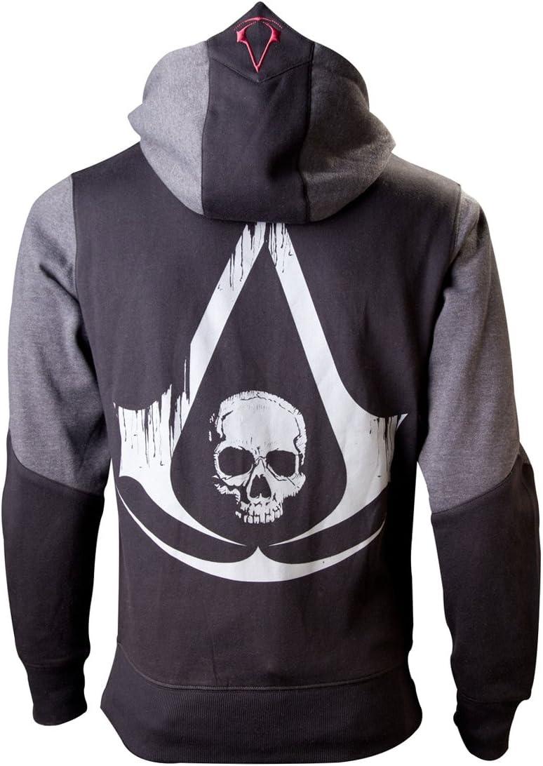 Assassin's Creed IV - Black Flag Skull Sudadera capucha con cremallera negro/gris XXL