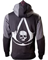 Assassin's Creed IV - Black Flag Skull Hooded zip black-grey