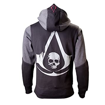 Assassins Creed IV - Black Flag Skull Sudadera capucha con cremallera negro/gris XXL