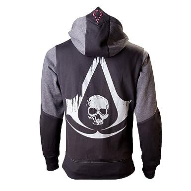 nouveaux styles homme femme Assassins Creed IV Black Flag sweat à capuche veste Kappu grande impression  sur le dos