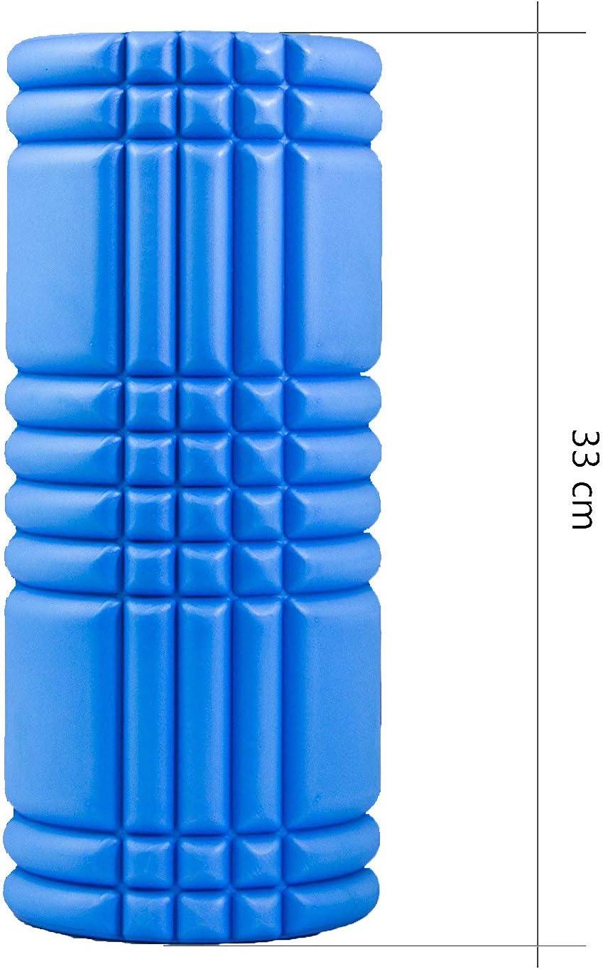 Hartschaumstoff Massage-//Faszienrolle -Rio Fit- blau mit Noppen 31cm x15cm.