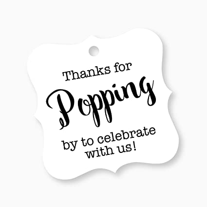 picture relating to Thanks for Popping by Free Printable titled Due For Popping Via Tags, Child Shower Popcorn Tags, Marriage Popcorn Want Tags (FS-370-WT)